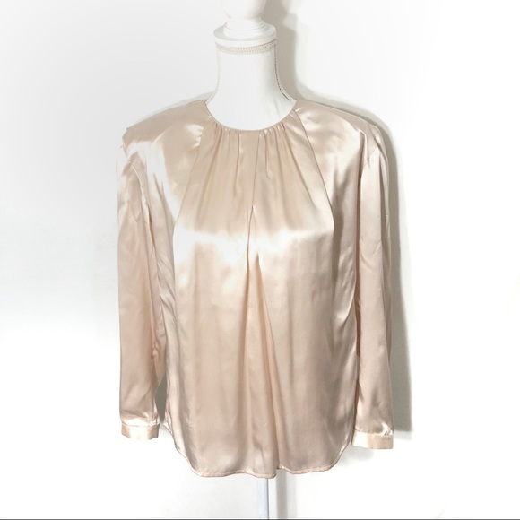 6551a7869e2775 Dior Tops | Christian Vtg Silk Top | Poshmark